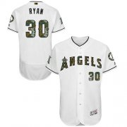 Wholesale Cheap Angels of Anaheim #30 Nolan Ryan White Flexbase Authentic Collection Memorial Day Stitched MLB Jersey