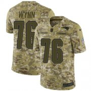 Wholesale Cheap Nike Patriots #76 Isaiah Wynn Camo Men's Stitched NFL Limited 2018 Salute To Service Jersey