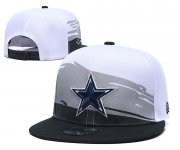 Wholesale Cheap Cowboys Team Logo White Blue Adjustable Hat