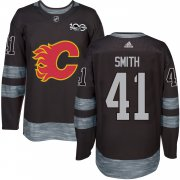 Wholesale Cheap Adidas Flames #41 Mike Smith Black 1917-2017 100th Anniversary Stitched NHL Jersey