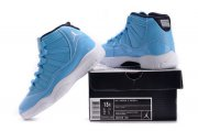 Wholesale Cheap Air Jordan 11 Boys&Girls Shoes Ultimate Gift Of Flight Blue/white