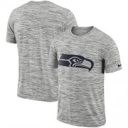 Wholesale Cheap Men's Seattle Seahawks Nike Heathered Black Sideline Legend Velocity Travel Performance T-Shirt