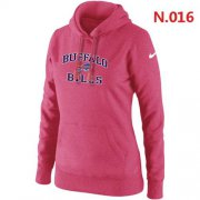 Wholesale Cheap Women's Nike Buffalo Bills Heart & Soul Pullover Hoodie Pink