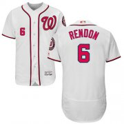 Wholesale Cheap Nationals #6 Anthony Rendon White Flexbase Authentic Collection Stitched MLB Jersey
