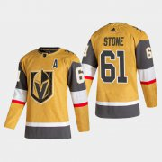 Cheap Vegas Golden Knights #61 Mark Stone Men's Adidas 2020-21 Authentic Player Alternate Stitched NHL Jersey Gold
