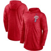 Wholesale Cheap Philadelphia Phillies Nike Split Logo Performance Long Sleeve Hoodie Top Red