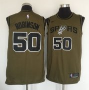 Wholesale Cheap San Antonio Spurs #50 David Robinson Olive Nike Swingman Jersey