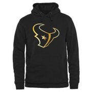 Wholesale Cheap Men's Houston Texans Pro Line Black Gold Collection Pullover Hoodie