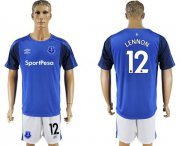 Wholesale Cheap Everton #12 Lennon Home Soccer Club Jersey