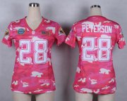 Wholesale Cheap Nike Vikings #28 Adrian Peterson Pink Women's Stitched NFL Elite Camo Fashion Jersey