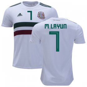 Wholesale Cheap Mexico #7 M.Layun Away Kid Soccer Country Jersey