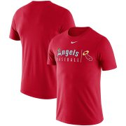 Wholesale Cheap Los Angeles Angels Nike MLB State Logo Practice T-Shirt Red