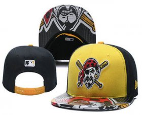 Wholesale Cheap Pittsburgh Pirates Snapback Ajustable Cap Hat YD