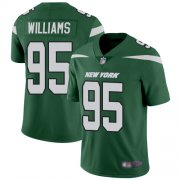 Wholesale Cheap Nike Jets #95 Quinnen Williams Green Team Color Men's Stitched NFL Vapor Untouchable Limited Jersey