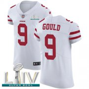 Wholesale Cheap Nike 49ers #9 Robbie Gould White Super Bowl LIV 2020 Men's Stitched NFL Vapor Untouchable Elite Jersey