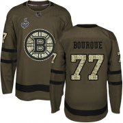 Wholesale Cheap Adidas Bruins #77 Ray Bourque Green Salute to Service Stanley Cup Final Bound Stitched NHL Jersey