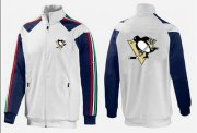 Wholesale Cheap NHL Pittsburgh Penguins Zip Jackets White-1