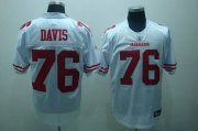 Wholesale Cheap 49ers #76 Anthony Davis White Stitched NFL Jersey