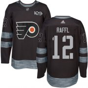 Wholesale Cheap Adidas Flyers #12 Michael Raffl Black 1917-2017 100th Anniversary Stitched NHL Jersey