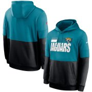 Wholesale Cheap Jacksonville Jaguars Nike Sideline Impact Lockup Performance Pullover Hoodie Teal Black