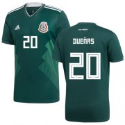 Wholesale Cheap Mexico #20 Duenas Green Home Soccer Country Jersey