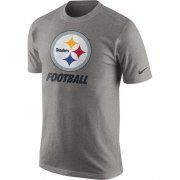 Wholesale Cheap Pittsburgh Steelers Nike Facility T-Shirt Heathered Gray