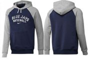 Wholesale Cheap Toronto Blue Jays Pullover Hoodie Dark Blue & Grey