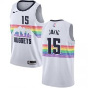 Wholesale Cheap Nike Nuggets #15 Nikola Jokic White NBA Swingman City Edition 2018-19 Jersey