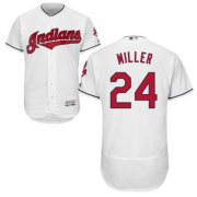 Wholesale Cheap Indians #24 Andrew Miller White Flexbase Authentic Collection Stitched MLB Jersey