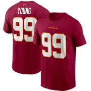 Wholesale Cheap Washington Redskins #99 Chase Young Football Team Nike Player Name & Number T-Shirt Burgundy