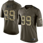 Wholesale Cheap Nike Texans #99 J.J. Watt Green Men's Stitched NFL Limited 2015 Salute to Service Jersey