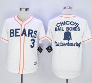 Wholesale Cheap Bad News Bears Button Down #3 Kelly Leak White Movie Stitched MLB Jersey