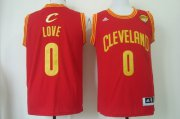Wholesale Cheap Men's Cleveland Cavaliers #0 Kevin Love 2017 The NBA Finals Patch Red Swingman Jersey