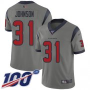 Wholesale Cheap Nike Texans #31 David Johnson Gray Men's Stitched NFL Limited Inverted Legend 100th Season Jersey