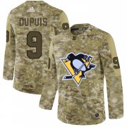 Wholesale Cheap Adidas Penguins #9 Pascal Dupuis Camo Authentic Stitched NHL Jersey