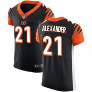 Wholesale Cheap Nike Bengals #21 Mackensie Alexander Black Team Color Men's Stitched NFL Vapor Untouchable Elite Jersey