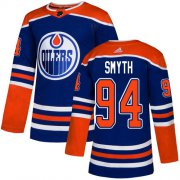 Wholesale Cheap Adidas Oilers #94 Ryan Smyth Royal Blue Alternate Authentic Stitched NHL Jersey