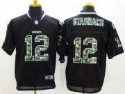 Wholesale Cheap Nike Cowboys #12 Roger Staubach Black Men's Stitched NFL Elite Camo Fashion Jersey