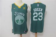 Wholesale Cheap Warriors 23 Draymond Green Green The Town Nike Authentic Jersey
