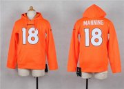 Wholesale Cheap Nike Broncos #18 Peyton Manning Orange Youth Player NFL Hoodie