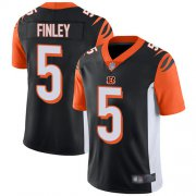 Wholesale Cheap Nike Bengals #5 Ryan Finley Black Team Color Men's Stitched NFL Vapor Untouchable Limited Jersey