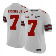 Wholesale Cheap Ohio State Buckeyes 7 Dwayne Haskins White With Diamond Logo College Football Jersey