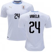 Wholesale Cheap Uruguay #24 Varela Away Soccer Country Jersey