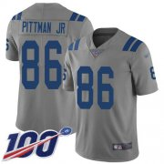 Wholesale Cheap Nike Colts #86 Michael Pittman Jr. Gray Men's Stitched NFL Limited Inverted Legend 100th Season Jersey