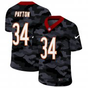 Cheap Chicago Bears #34 Walter Payton Men's Nike 2020 Black CAMO Vapor Untouchable Limited Stitched NFL Jersey