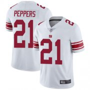 Wholesale Cheap Nike Giants #21 Jabrill Peppers White Men's Stitched NFL Vapor Untouchable Limited Jersey