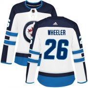 Wholesale Cheap Adidas Jets #26 Blake Wheeler White Road Authentic Women's Stitched NHL Jersey