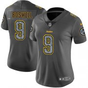 Wholesale Cheap Nike Steelers #9 Chris Boswell Gray Static Women's Stitched NFL Vapor Untouchable Limited Jersey