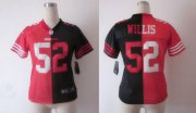 Wholesale Cheap Nike 49ers #52 Patrick Willis Black/Red Women's Stitched NFL Elite Split Jersey