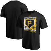 Wholesale Cheap Pittsburgh Pirates Majestic 2019 Spring Training Grapefruit League Base on Ball Big & Tall T-Shirt Black
